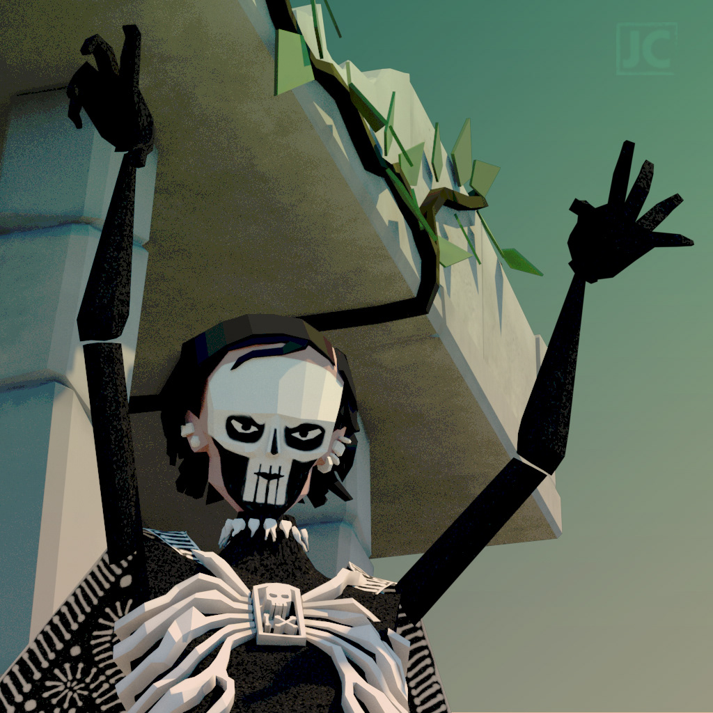 Image may contain: cartoon and skull