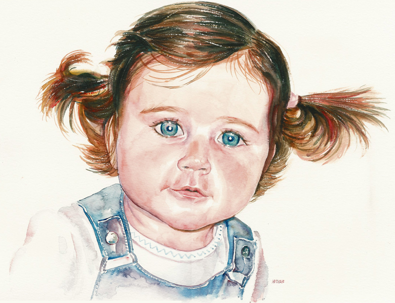 Portrait of my daughter at 2½yrs