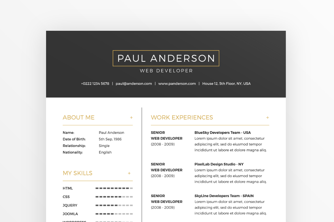 free resume  u0026 cover letter template   business cards on