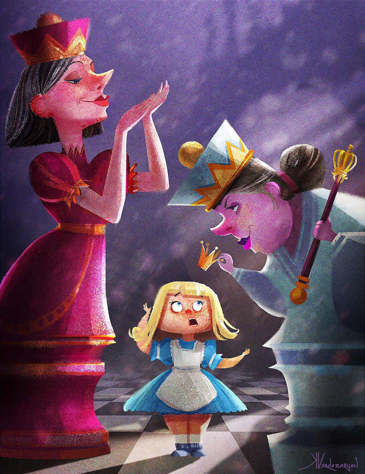 Alice in wonderland on behance Alice and wonderland art projects