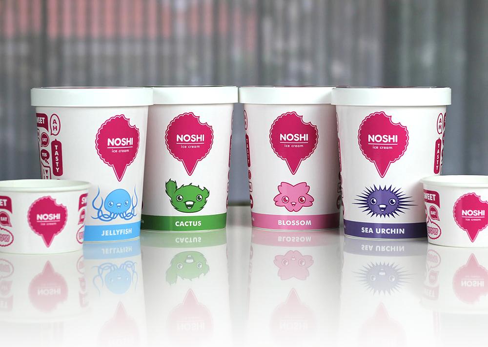 Noshi Ice Cream Dessert Packaging ByPaul Hatch