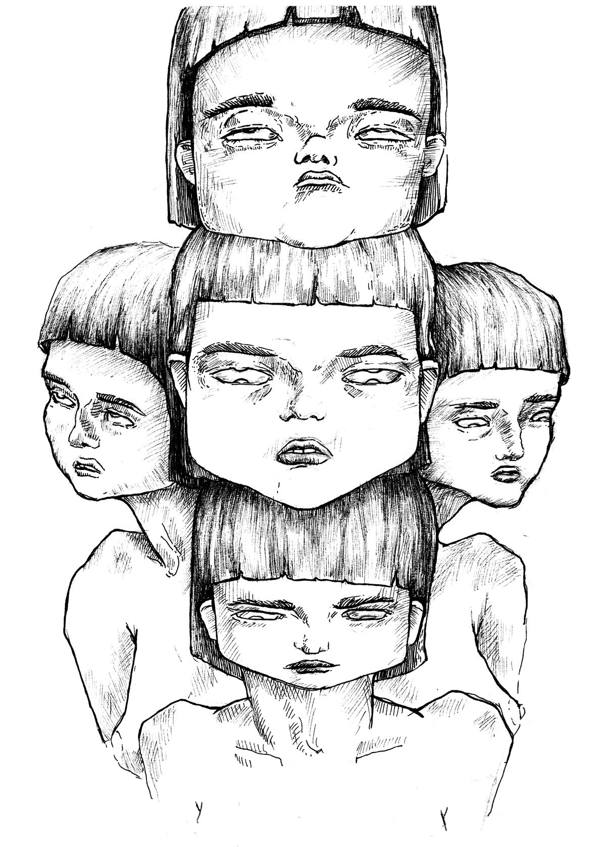 ILLUSTRATION  sketch fanart inktober