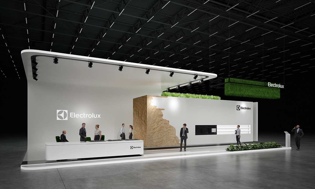 D Exhibition Layout : Electrolux exhibition stand on behance