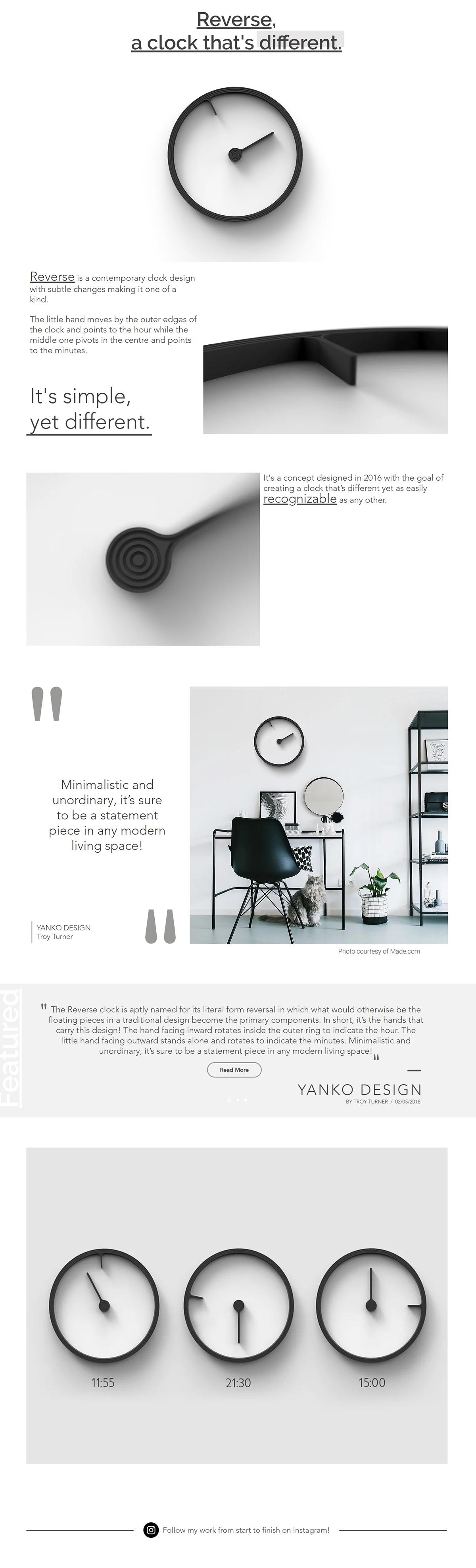 Reverse mattice boets clock contemporary Interior design Marble different subtle