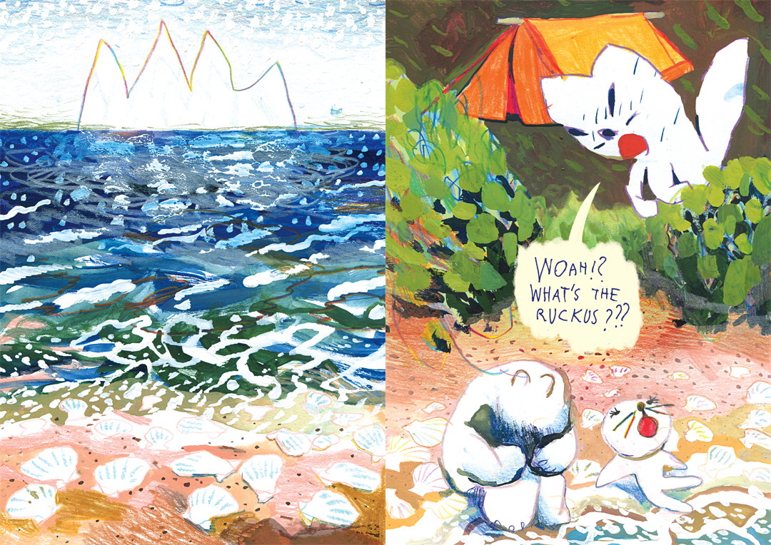 all ages picture book animal comic Comic Book Illustrated book mixed media narrative art children's illustration