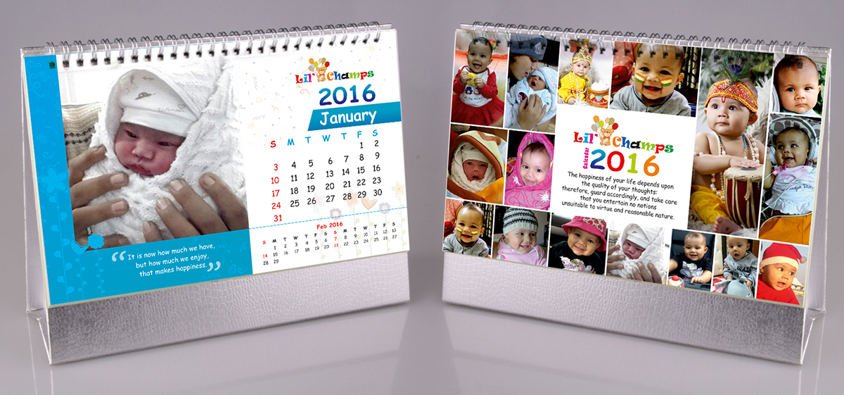 Lil Champs Baby Calendar Sample Design on Behance – Calendar Sample Design