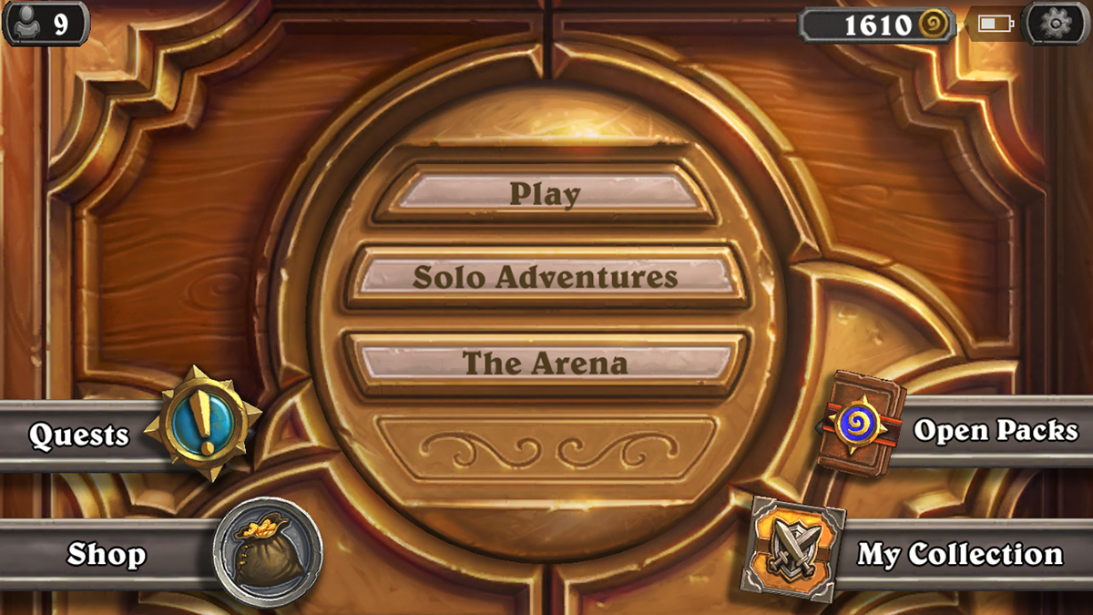 Hearthstone UI on Behance