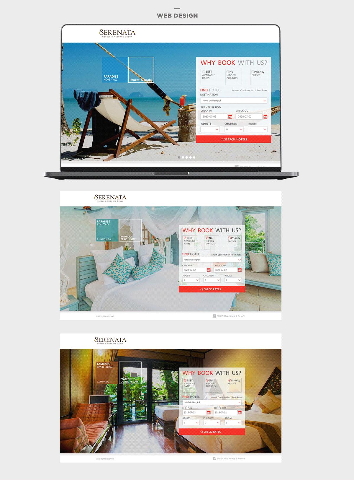 Booking hotel Theme Design Web Design