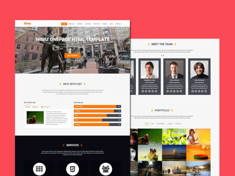 bootstrap HTML HTML Template freebie