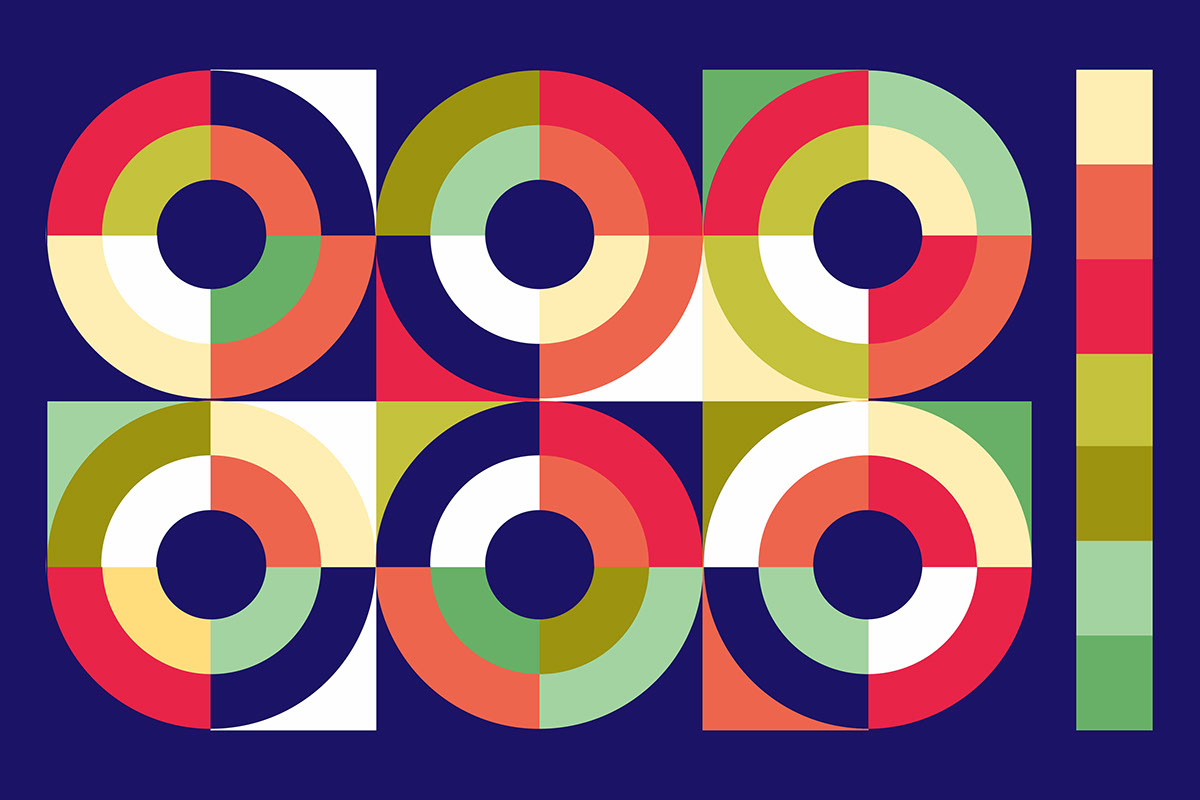 brand identity colorful rainbow Music Festival concert poster business card logo logomark banner visual identity