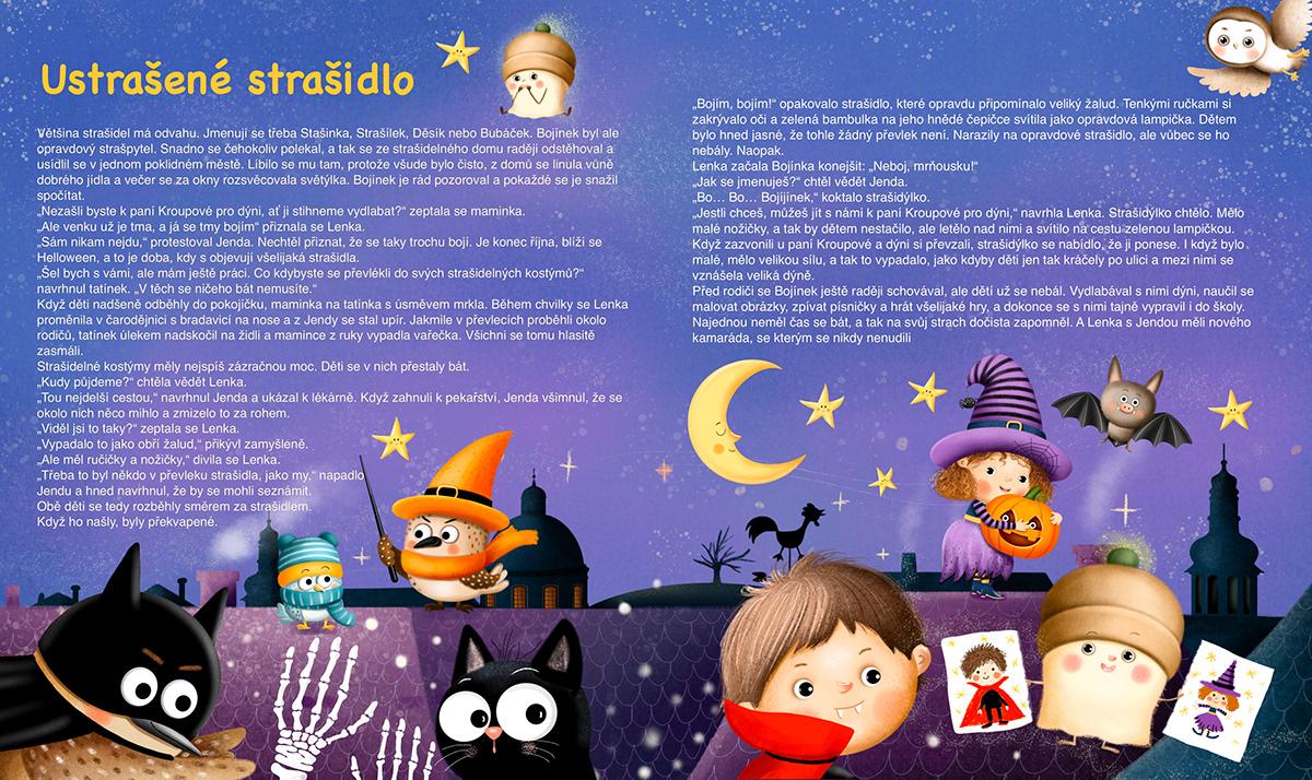 autumn Character design  children illustration cute ghost Halloween pumpkin witch stickers