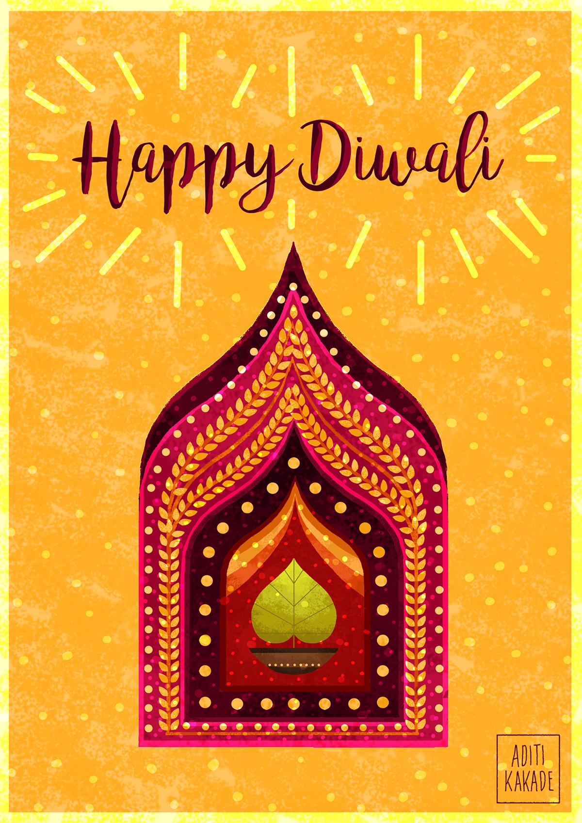 Diwali Greeting Card On Wacom Gallery