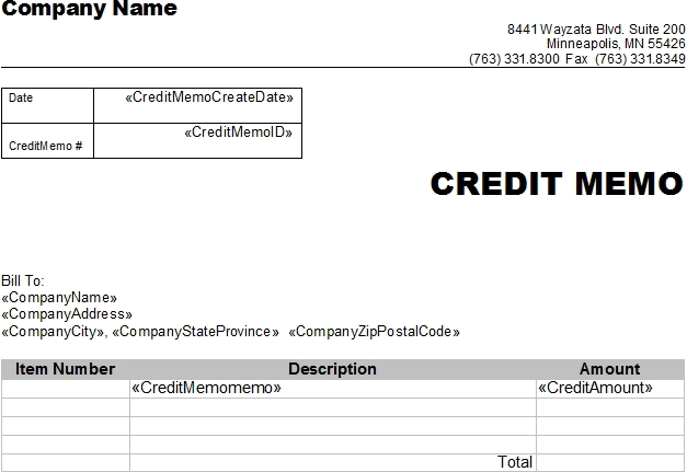 Doc.#: Credit Note Sample Template – Sample Of Credit Note