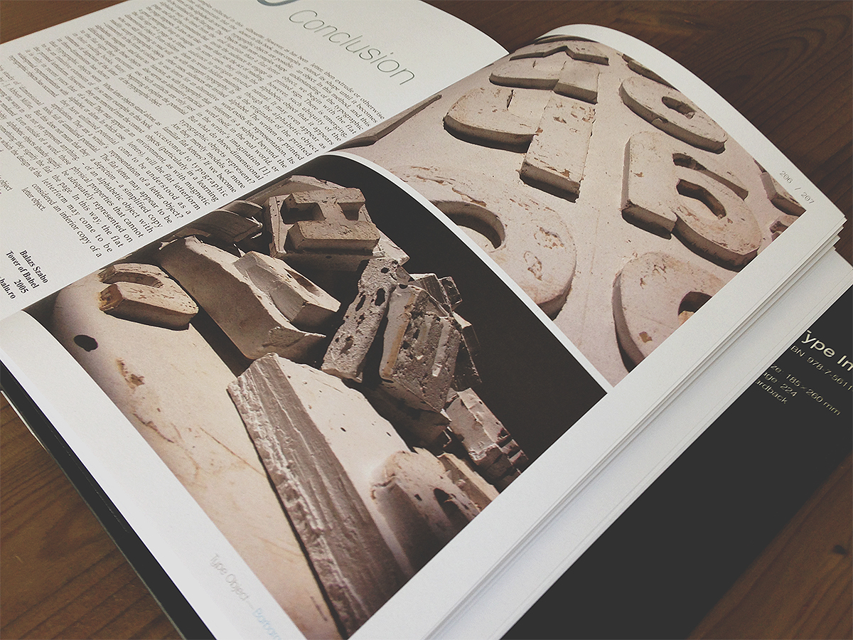 book featured type letters object 3D publication