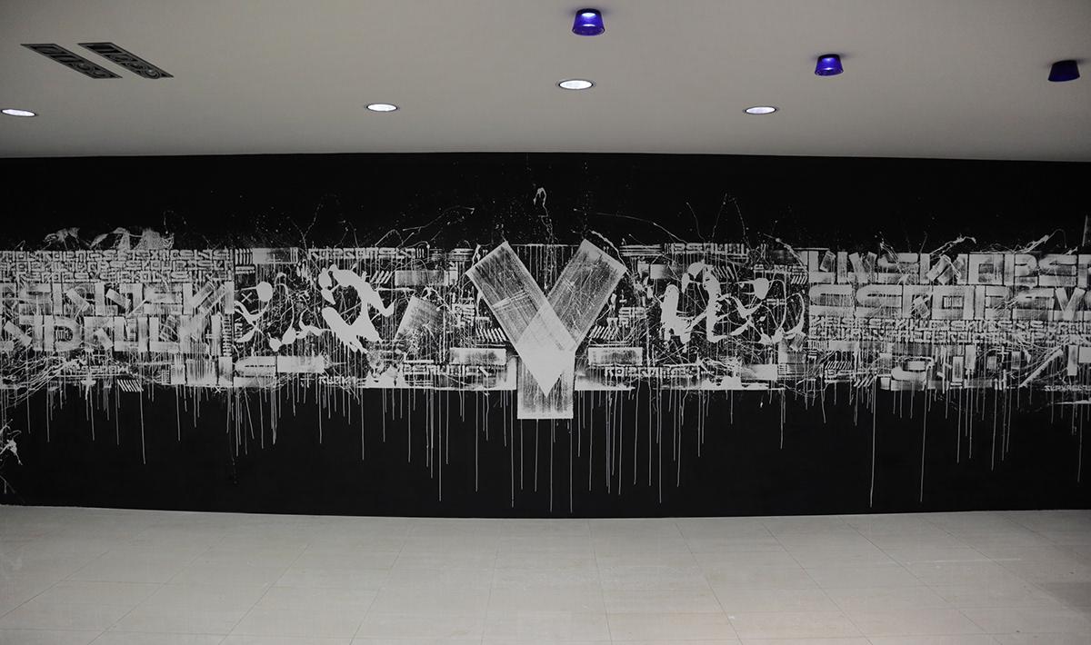 the krank urban art interior design  Berlin art KRANK Street Art  Mural art