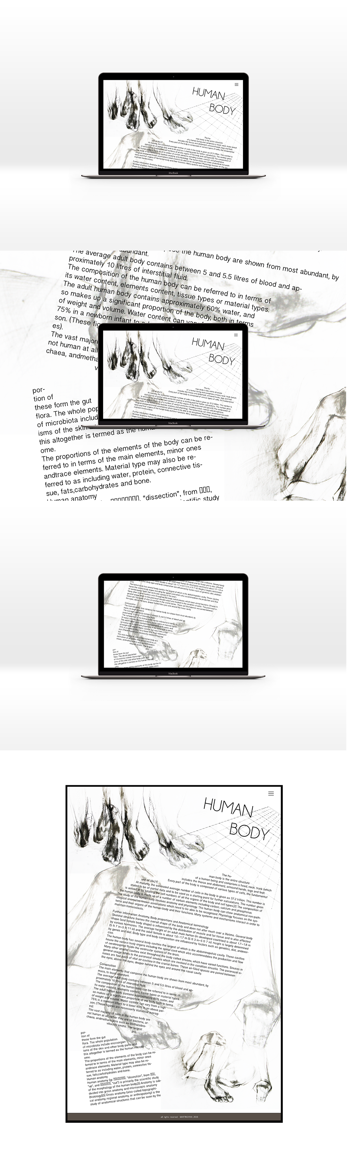 Human Body Abstract Website Layout On Behance