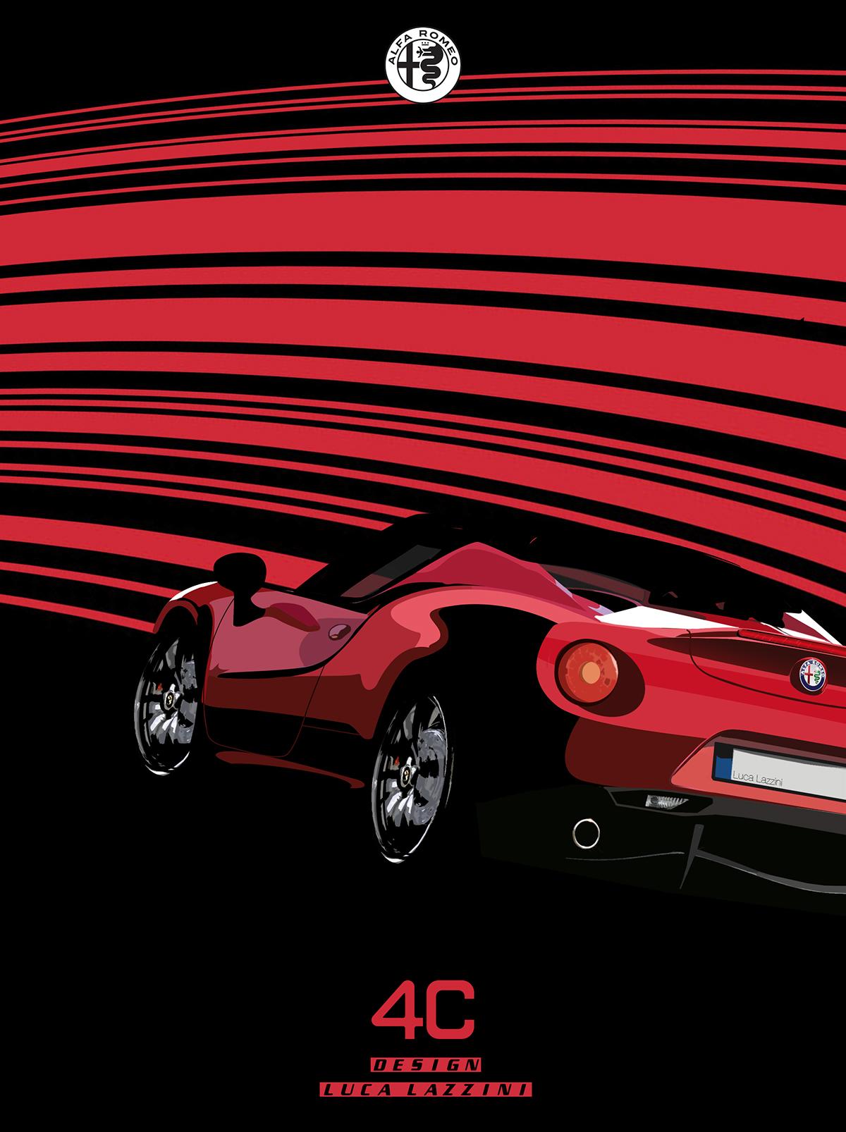 Alfa Romeo C Poster On Behance - Alfa romeo poster