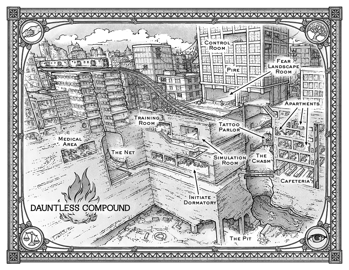 Dauntless Compound Map on Behance on