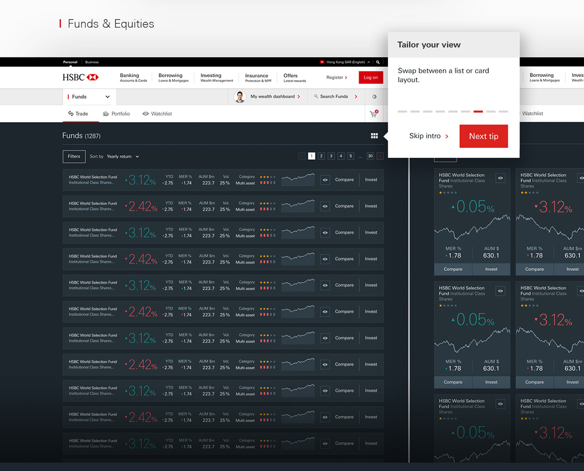 HSBC Brokerage and Structured Products on Pantone Canvas Gallery