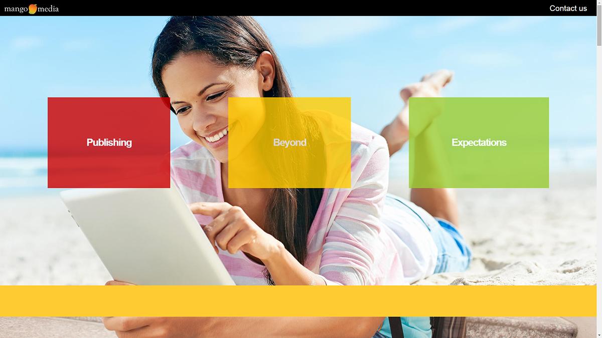Mango Media Website Digital Publishing House miami Responsive Design