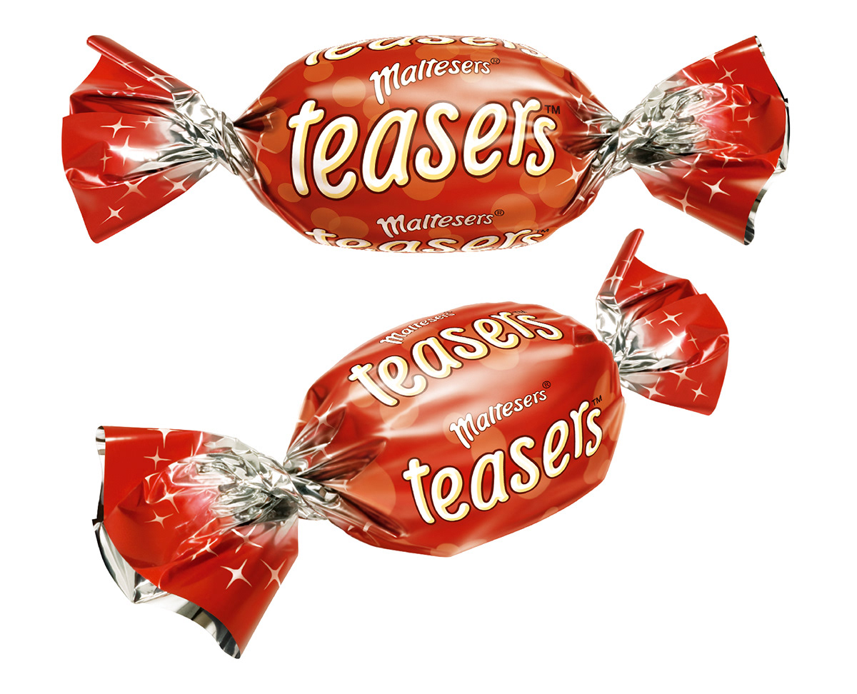 Photo realistic illustrations of Celebrations Maltesers miniture chocolates for product packaging
