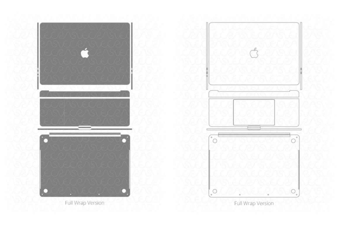 Vinyl Ready Vector Cut File Templates for Laptops Skins on Behance