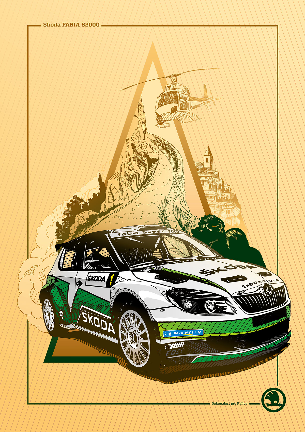 Skoda Auto posters on Behance