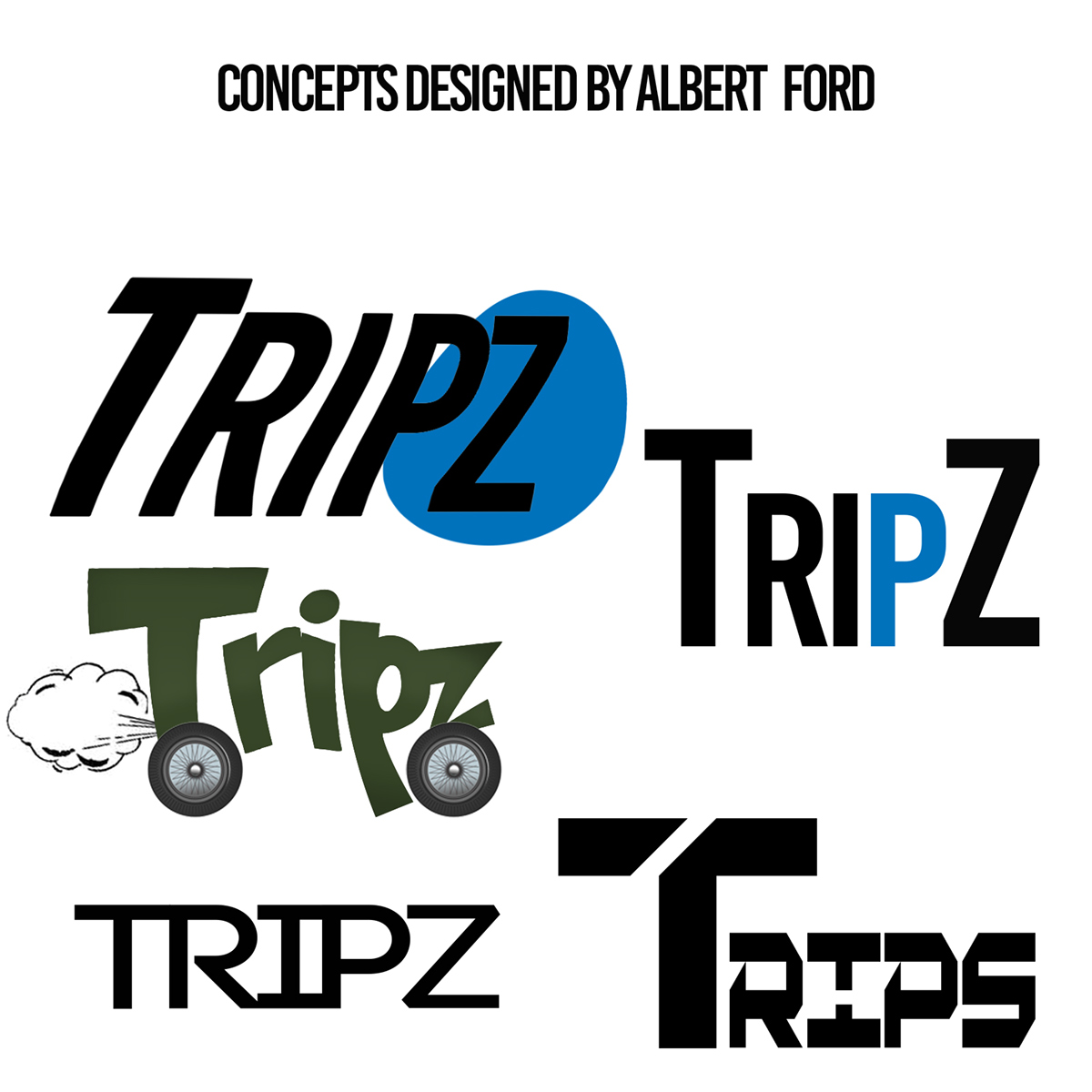 tripz app logo icon and movie poster on behance