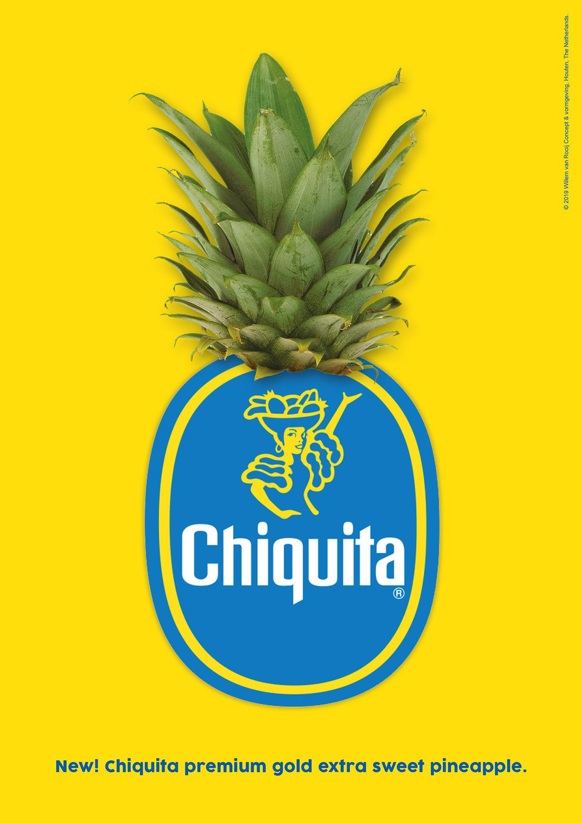 Chiquita logo shaped pineapple