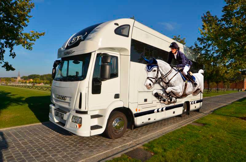 Daniel Deusser Cornetd'Amour Stephex Stables equestrian painting Equine portraits horse paintings Wellington Florida Artist Horse Trailer wraps Double H Farms Iveco Eurocargo