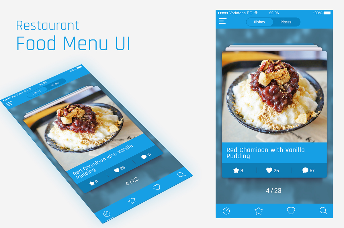 Restaurant food menu mobile app ux ui inspiration on behance forumfinder Gallery