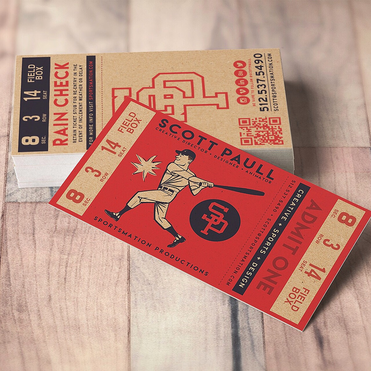 retro ticket business card on behance