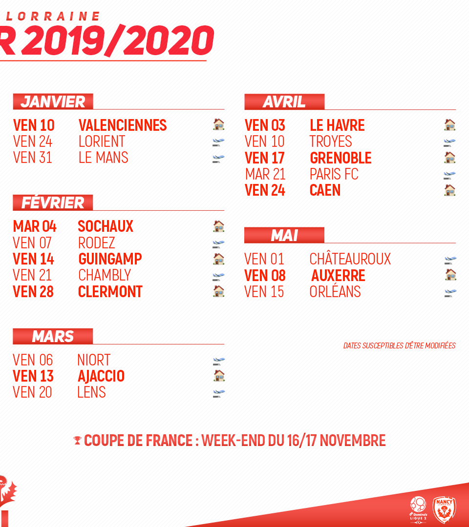 Calendrier 2019 Png.Calendrier 2019 2020 Fans Of Nancy On Behance