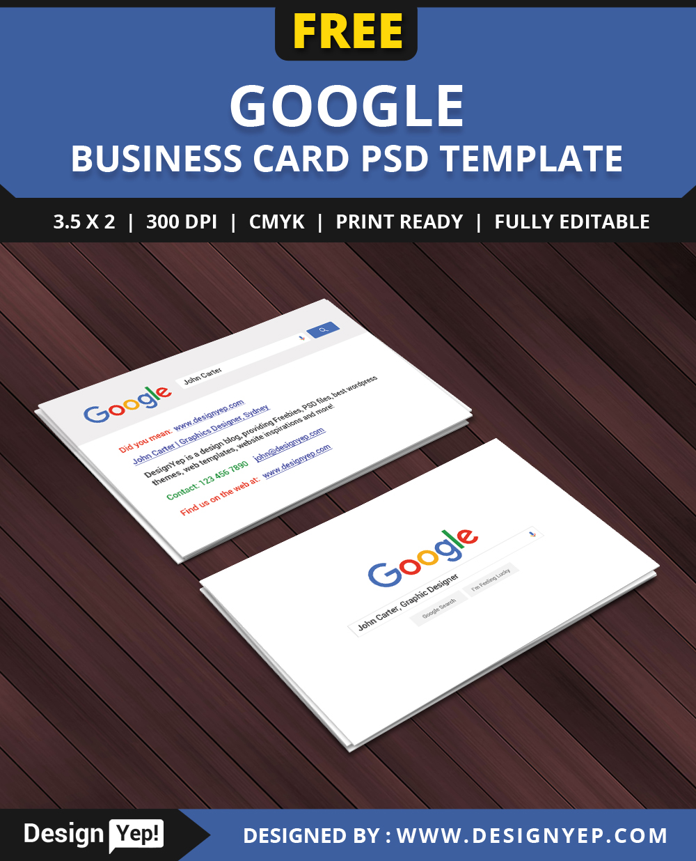 Free google interface business card psd template on behance wajeb