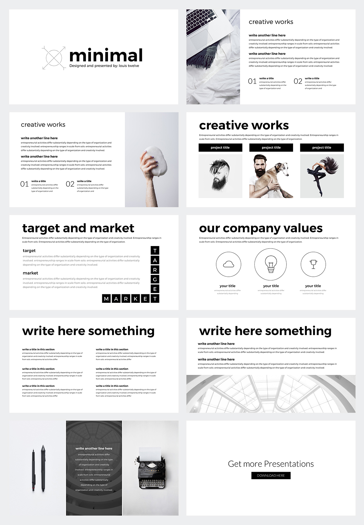 Free Minimal Powerpoint Template On Behance