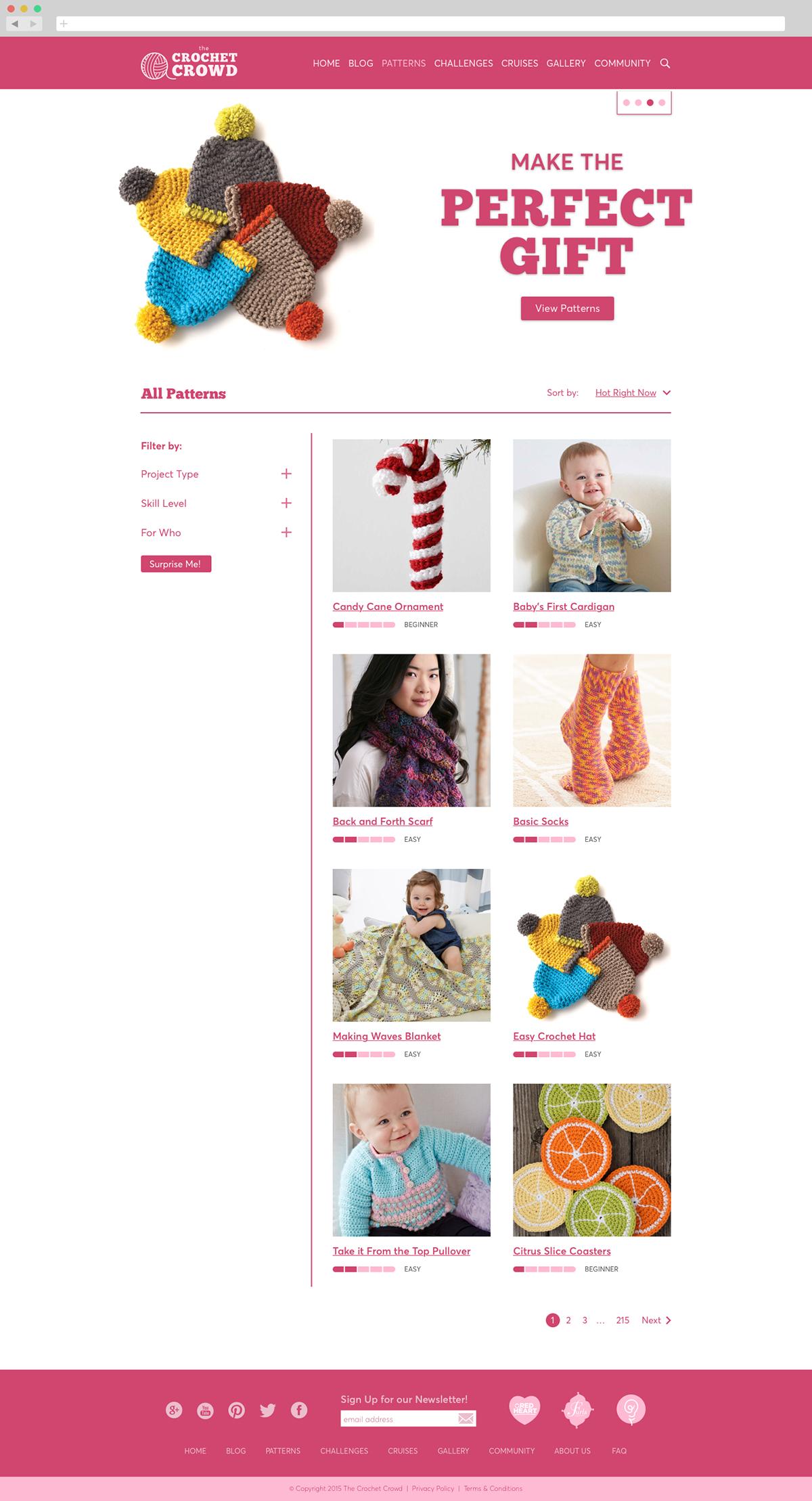 The Crochet Crowd Website & Merchandise on Behance