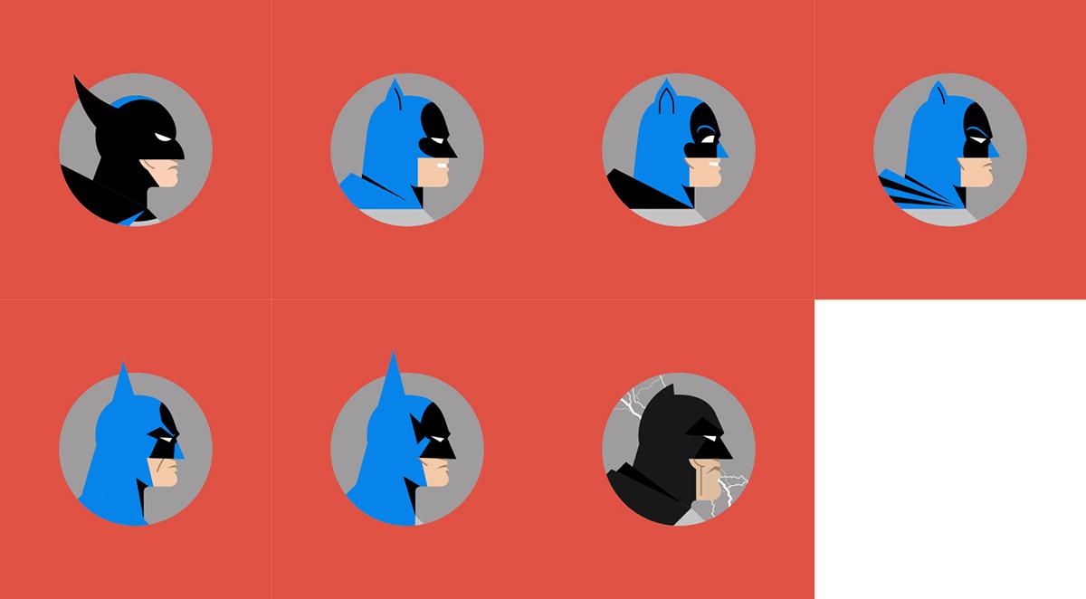 batman comics Bats geometric icons Movies Cartoons tv Minimalism elseworlds poster