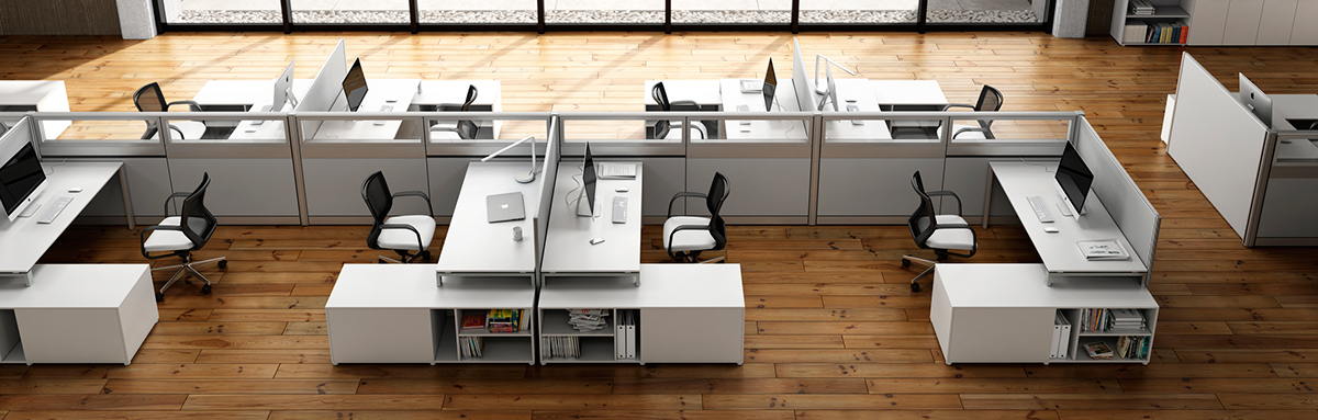 Name: Office Furniture | Panel And Desking System Description: Still  Rendering For Catalogue | Concept Interior Design, 3D Modeling, Texturing,  ...
