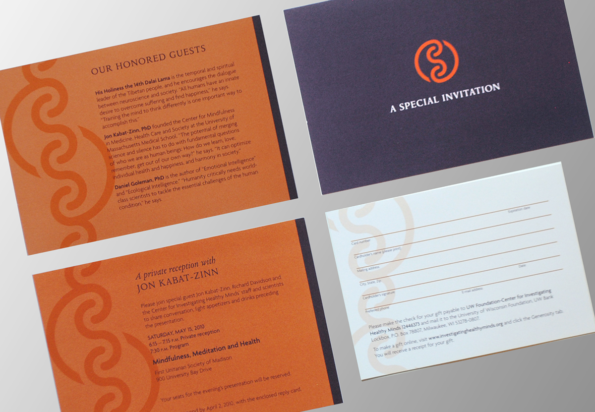 mindfulness Dalai Lama Event Neuroscience Philanthropy  Invitation