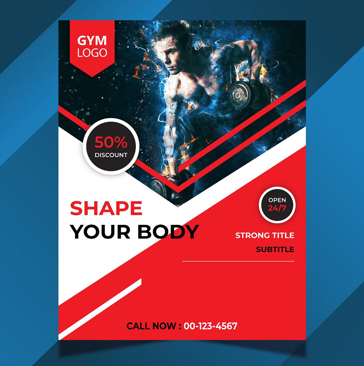 gym flyer gym flyer design gym flyer psd gym flyer template Gym flyer vector