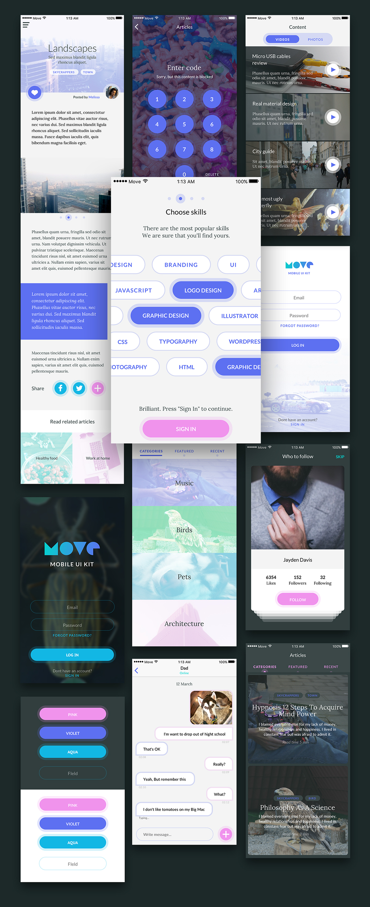 UI ui kit freebie free sketch app ios application tag login profile