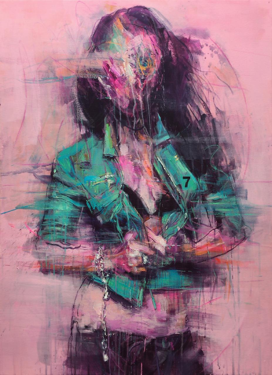 'faking mirror' #014 acrylic on canvas 100x72.7cm