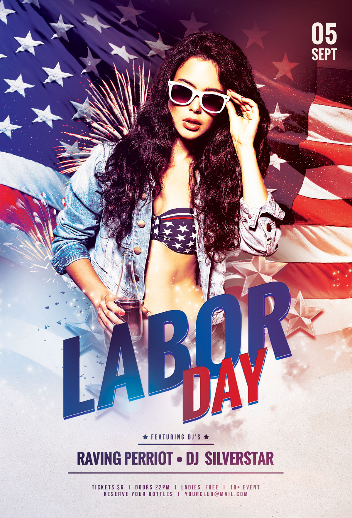 Charming Labor Day Flyer Template On Behance Photo
