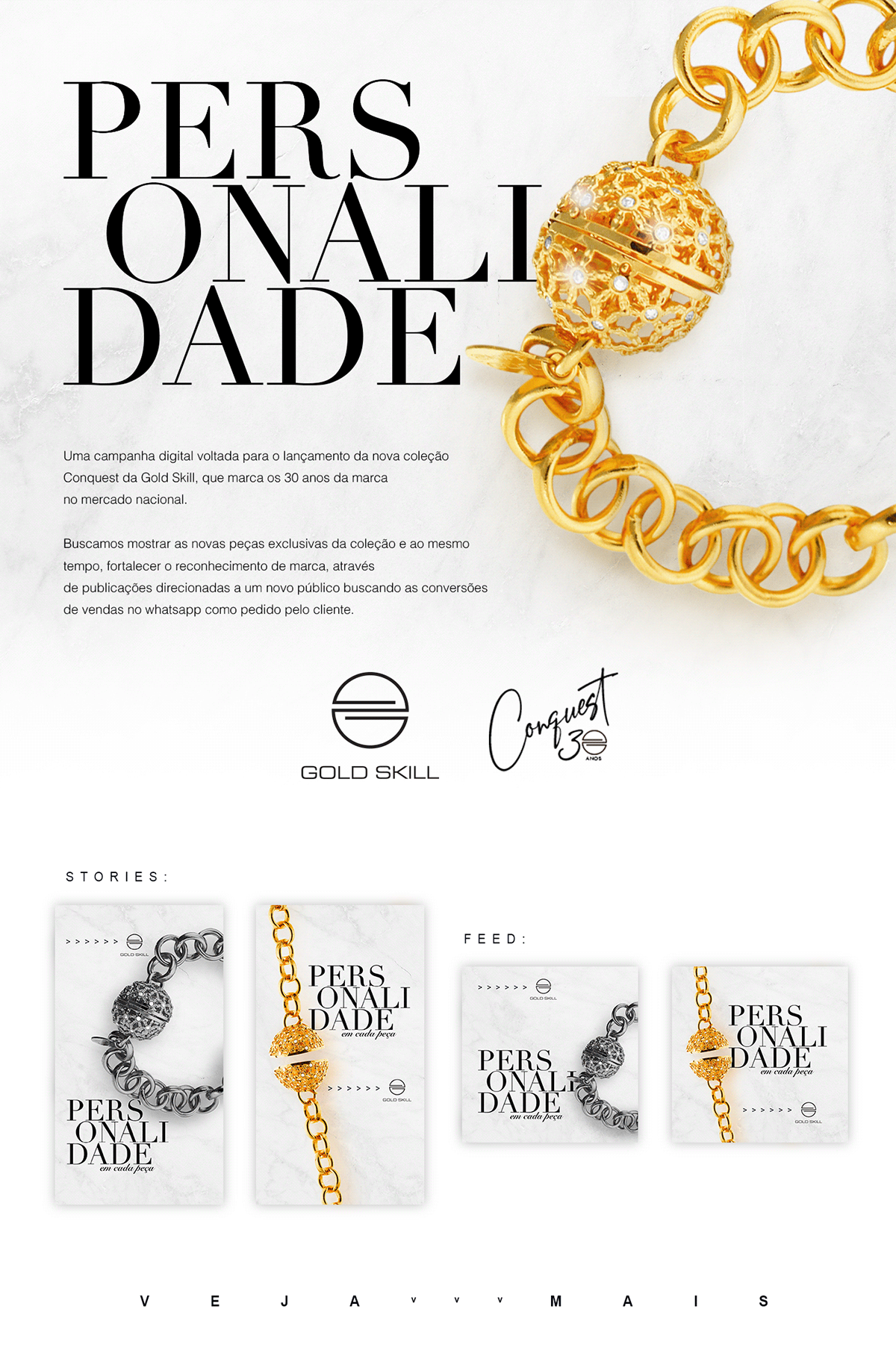 campanha design digital gold skill joias luxo motion personalidade webfuel