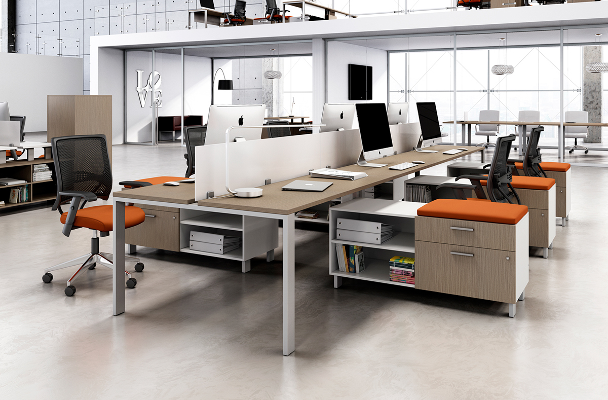 Cgi office furniture operative desks on wacom gallery for Office table 3d design