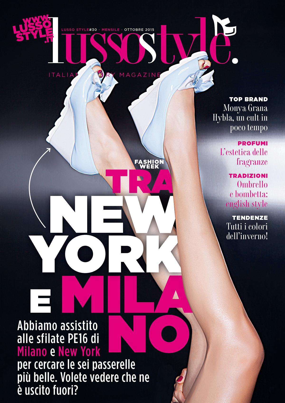 cover design,Lusso Style,Francesco Mazzenga,fashion week