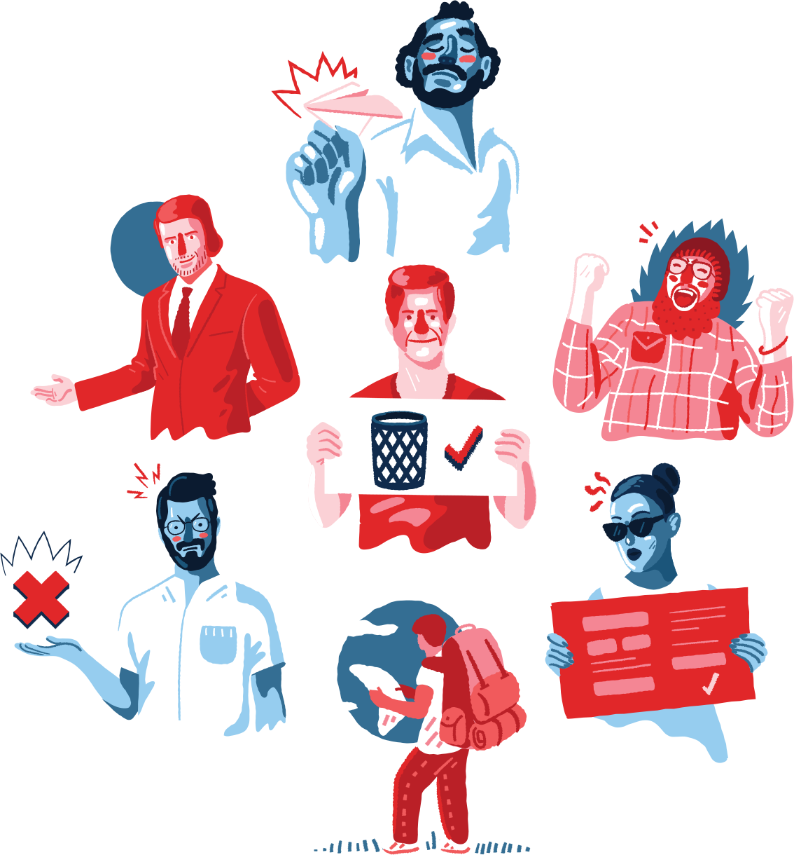Illustrations for Icons8 'Ouch' Project III on Behance
