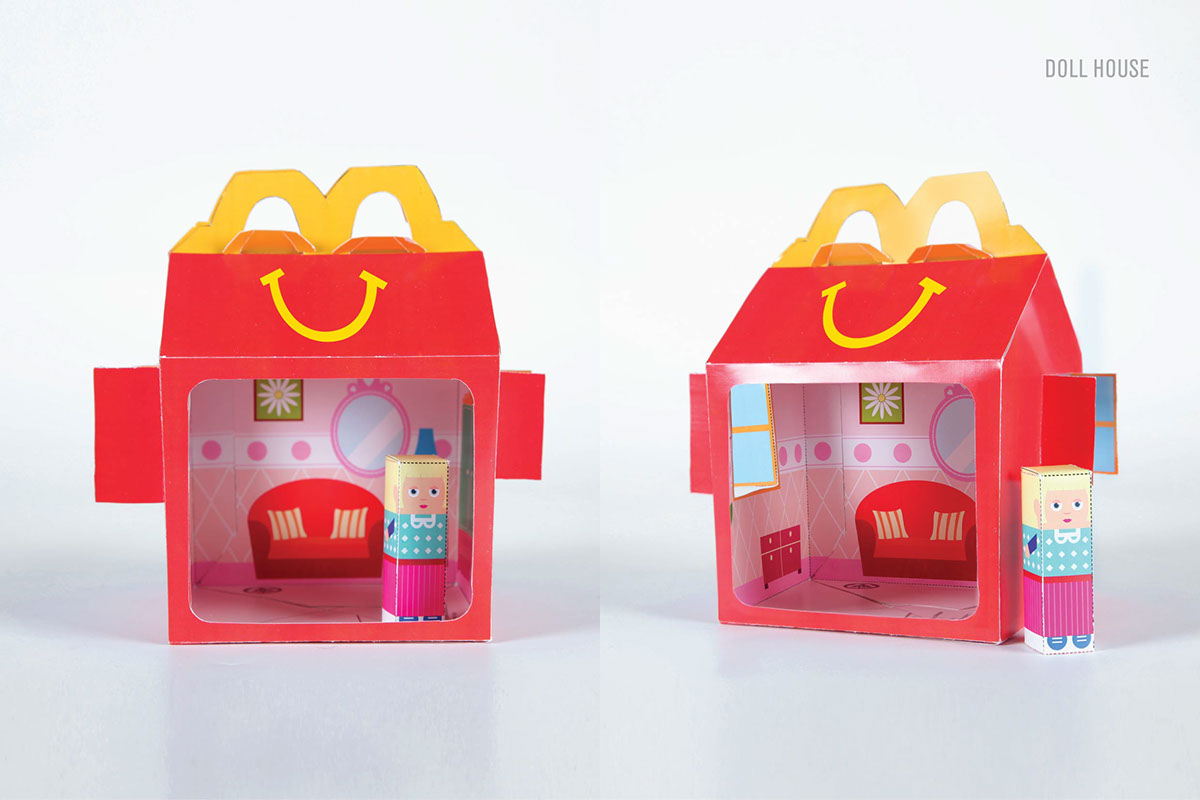 happy meal box net mcdonalds box of joy on behance happy meal box net