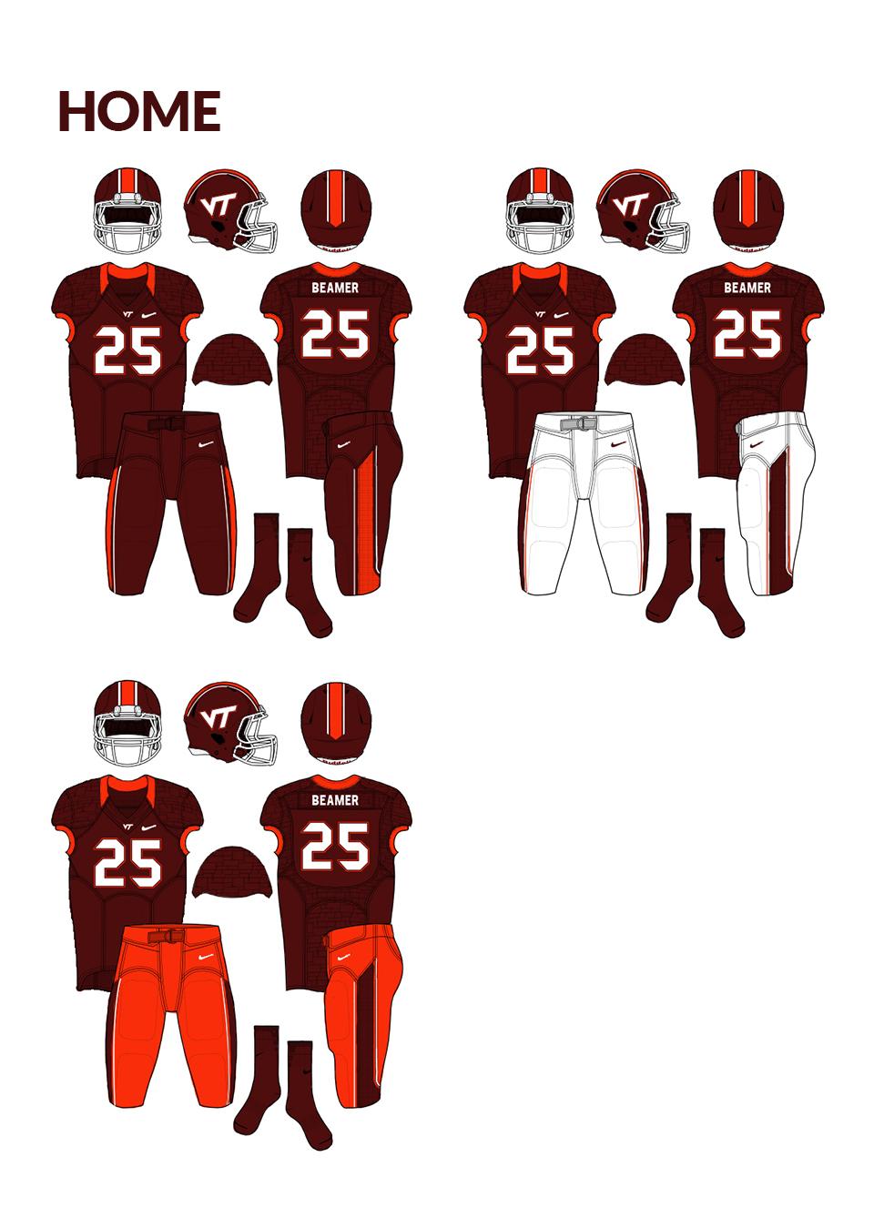 the best attitude 68dee 24d25 Virginia Tech Hokies - Logo and Uniform Concept on Behance