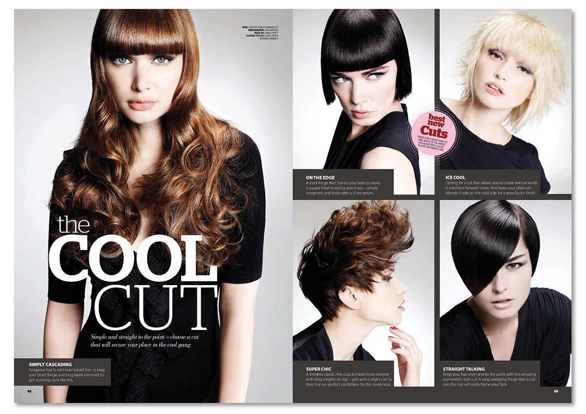 Your Hair Magazine Layout Design Typography On Behance - Design your hairstyle